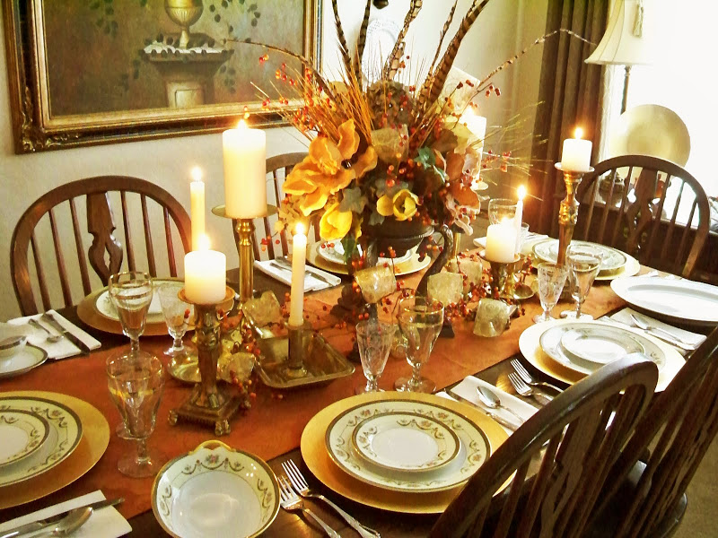 Image of: Elegant thanksgiving table decorations