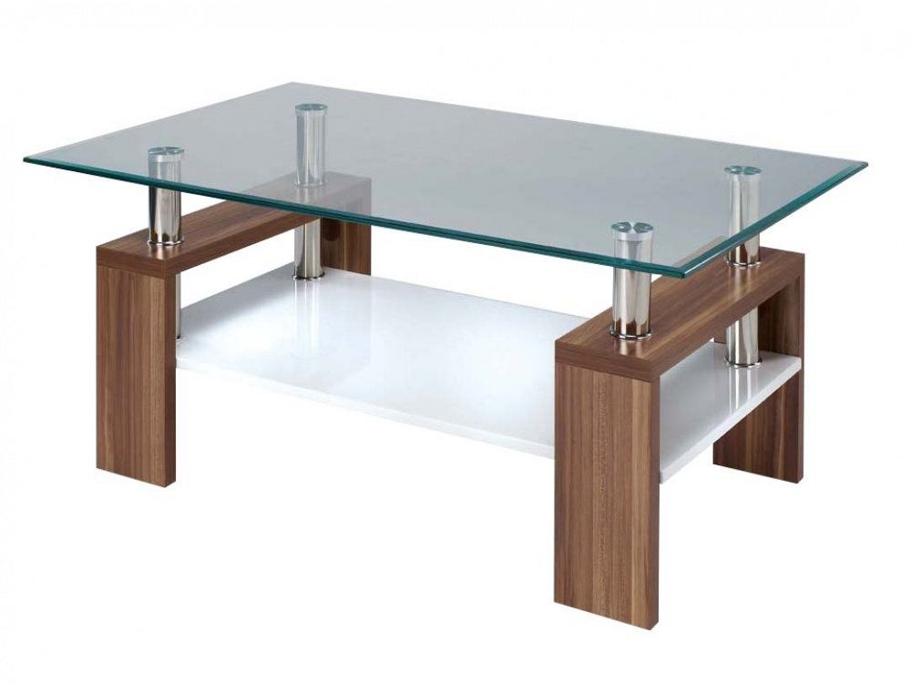 Picture of: Elise Clear Rectangle Glass Coffee Tables