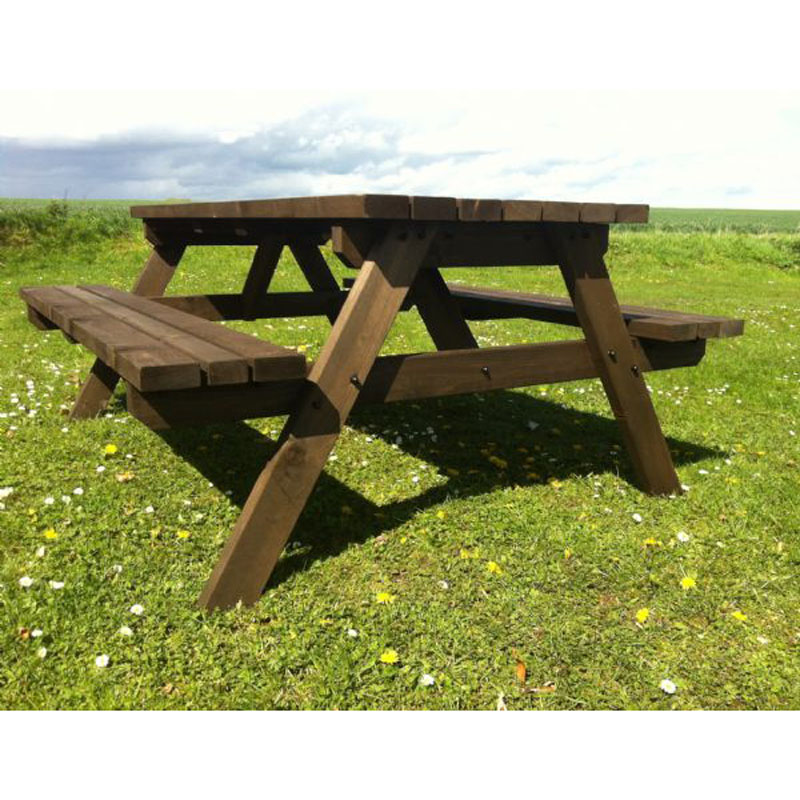Picture of: Extra Large Picnic Bench Wooden Table