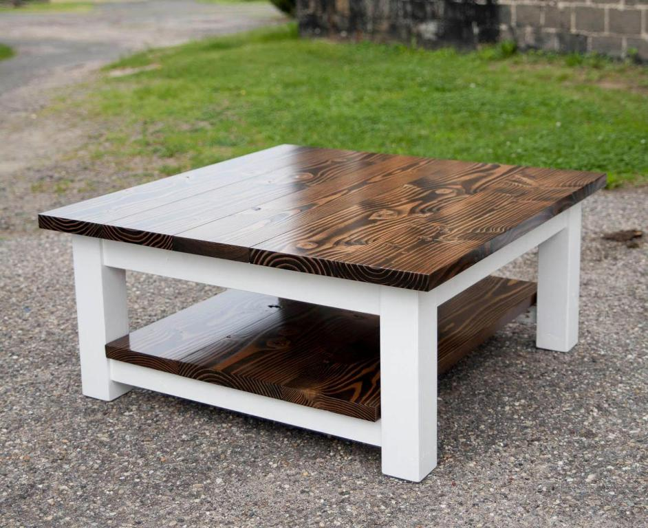 Image of: Farmhouse Style Coffee Table Square