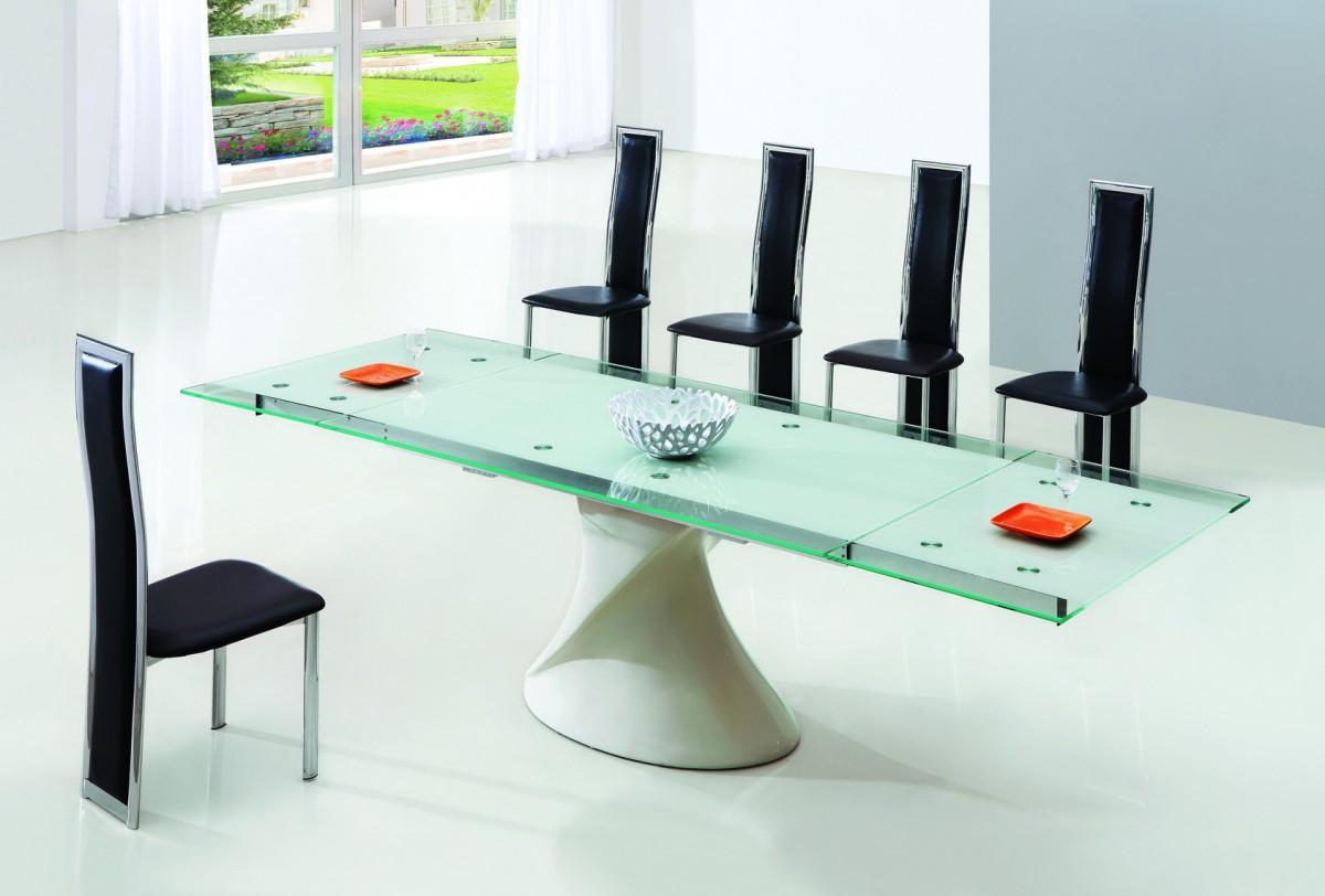 Picture of: Glass Dining table bases