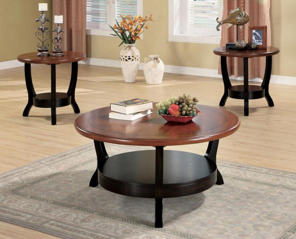 Picture of: Glass Round Coffee Table Sets Clearance