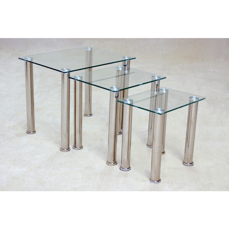 Image of: glass nesting coffee tables