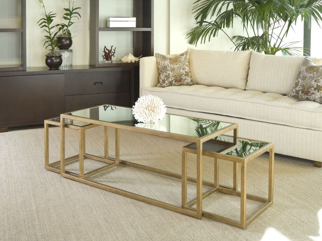 Image of: how to decorate a coffee table top