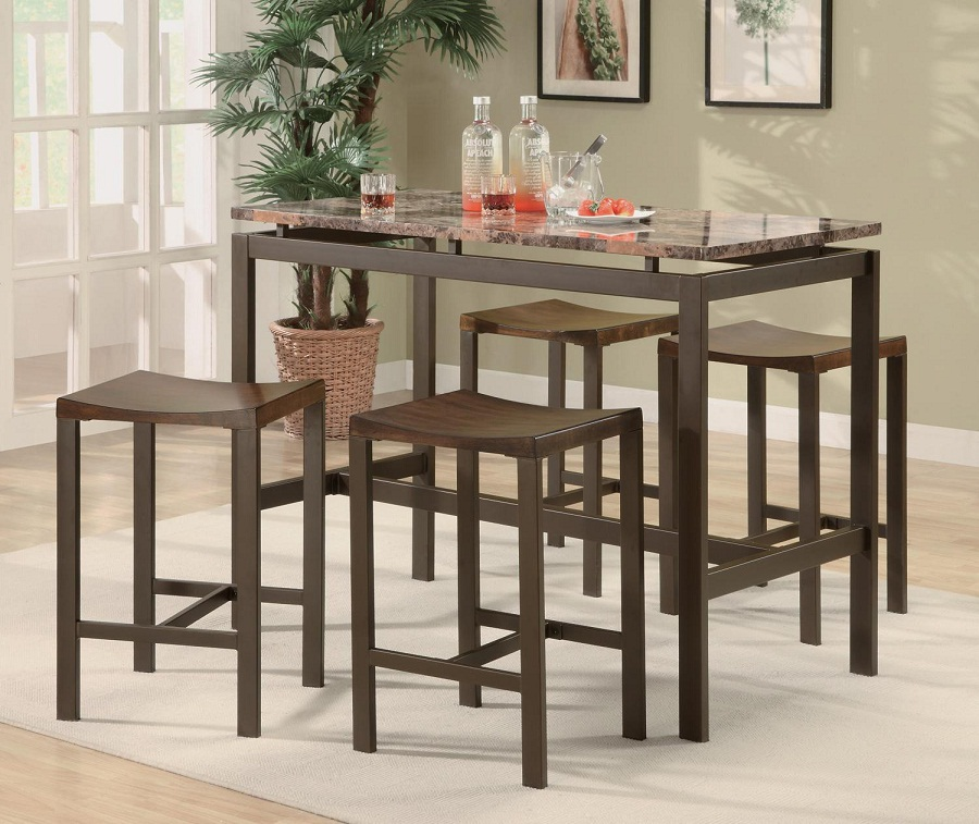 Image of: Ideas Bar Stool and Table Set