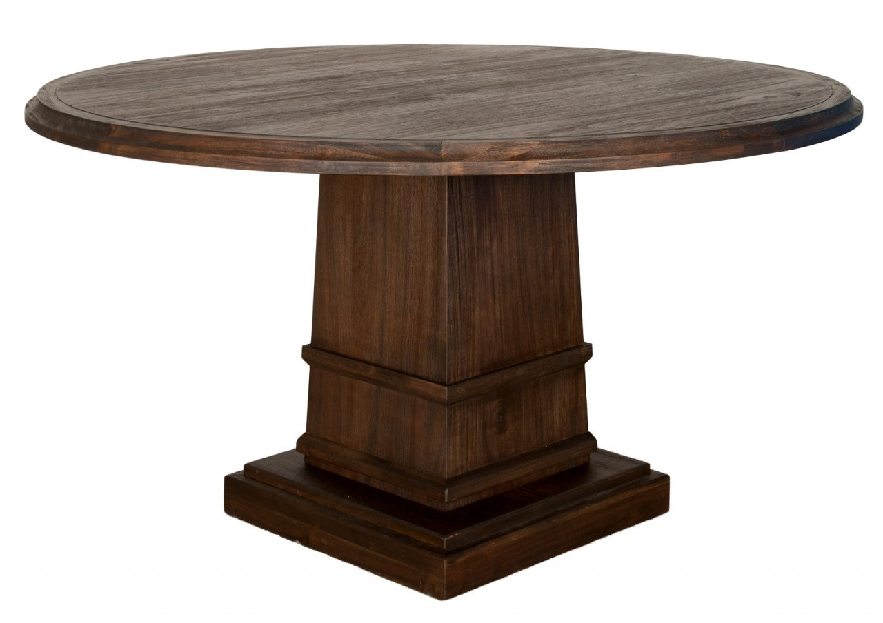 Picture of: Image of round espresso dining table