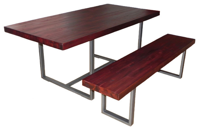 Picture of: Industrial Butcher Block Dining Room Table