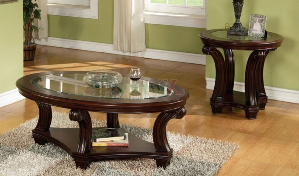 Image of: lane cherry wood end tables