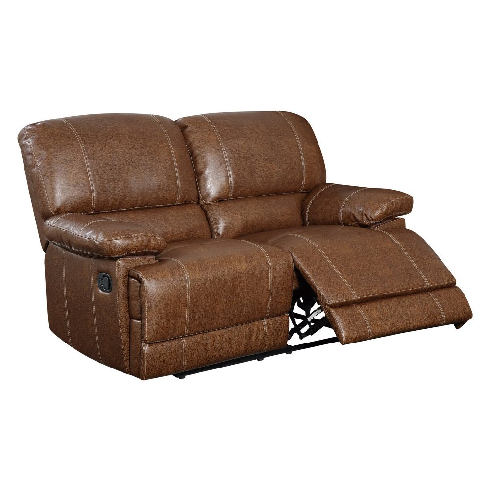 Picture of: Leather Reclining Loveseat Style
