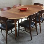 Mid Century Modern Round Dining Table Expandable