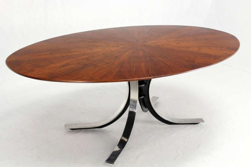 Image of: Mid Century Modern Round Dining Table Ideas
