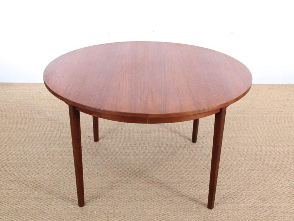 Image of: Mid Century Modern Round Dining Table Round