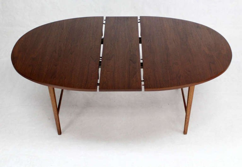 MidCentury Modern Round Dining Table With Leaves