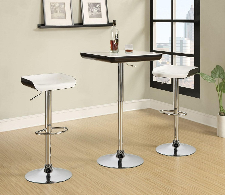 Image of: Minimalist Bar Stool and Table Set