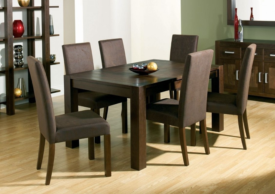 Image of: Minimalist Dark Wood Dining Table