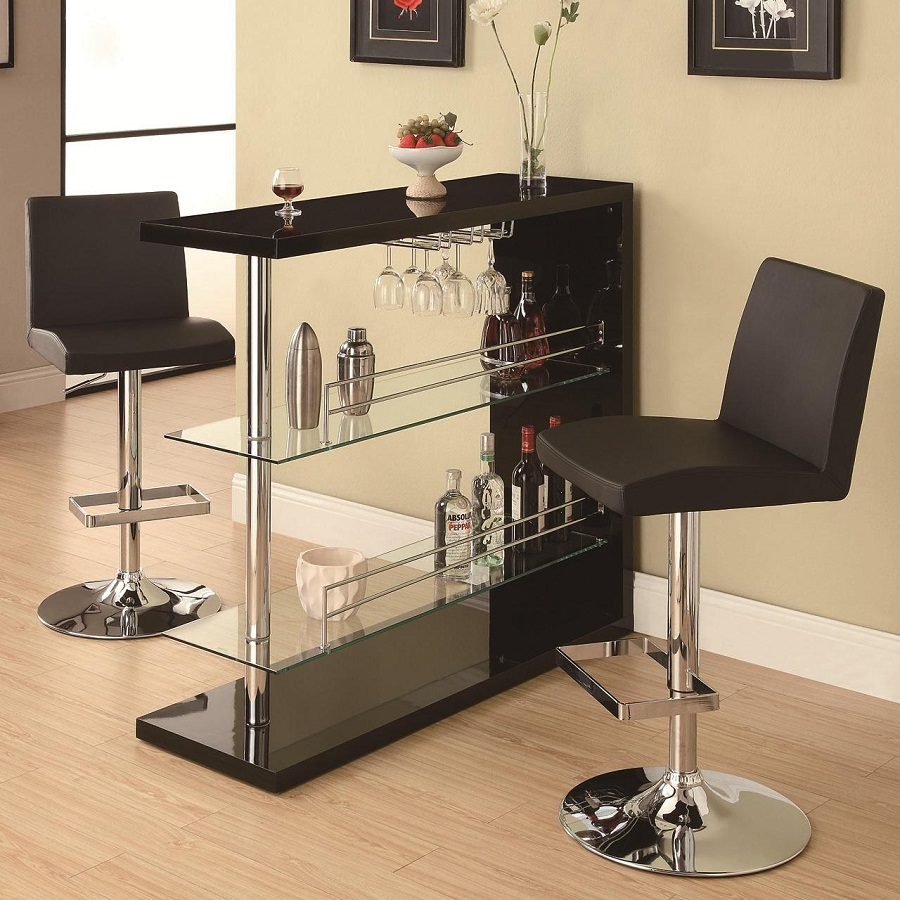 Image of: Modern Bar Stool and Table Set