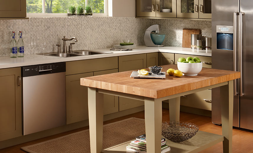 Image of: Modern Butcher Block Dining Room Table