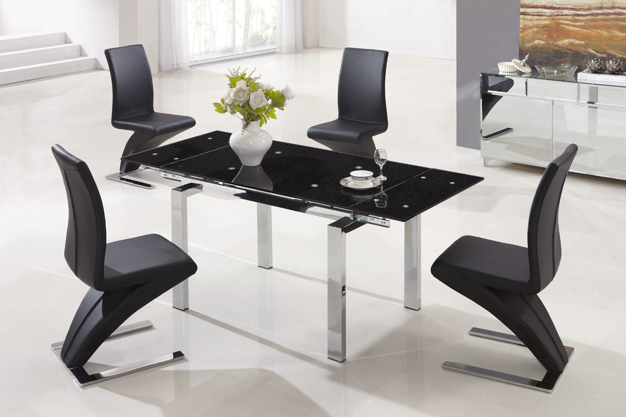Modern Glass Extendable Dining Table