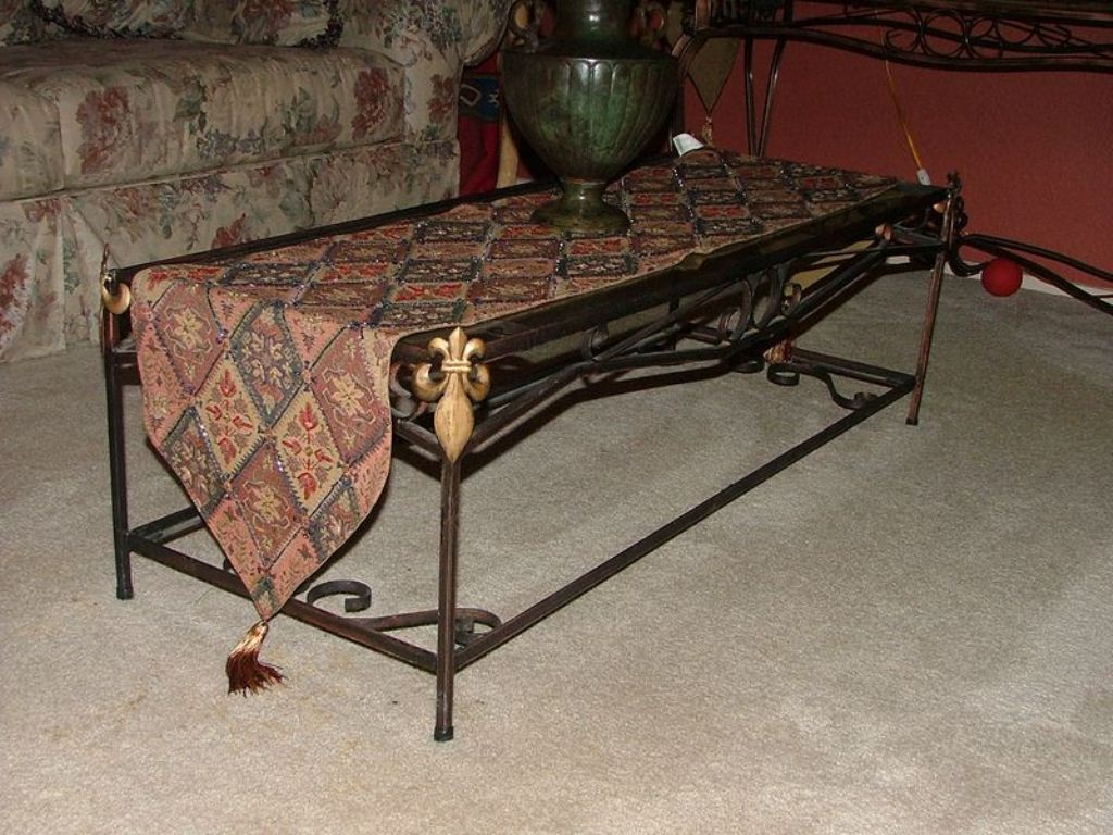 Picture of: Modern Wrought Iron End Tables