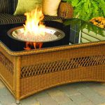 Naples Glass Fire Pit Table
