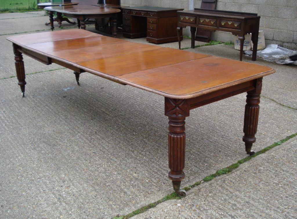 Image of: Narrow Dining Room Table Antique