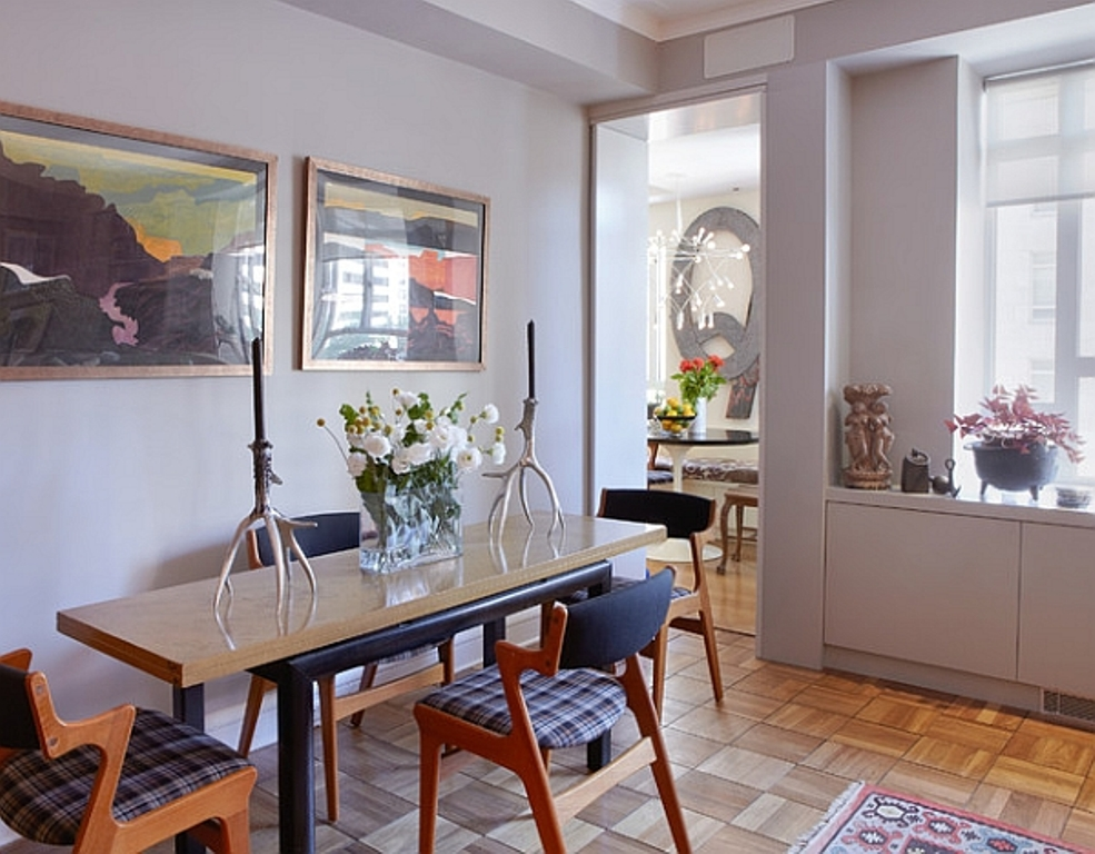 Image of: Narrow Dining Room Table Ideas