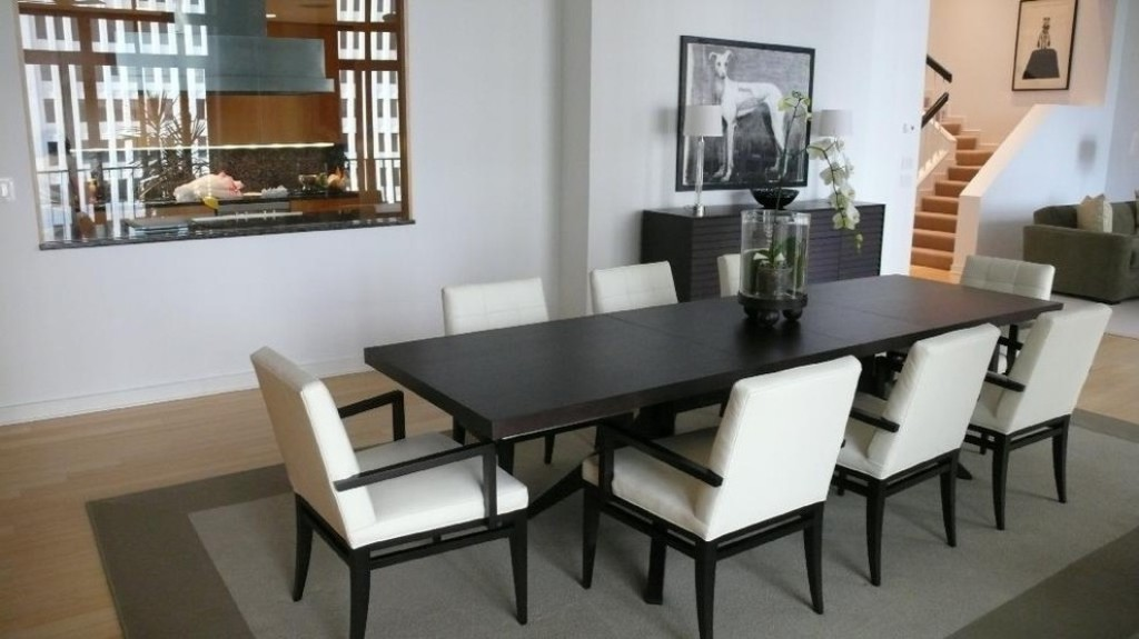 Image of: Narrow Dining Room Table With Leaf
