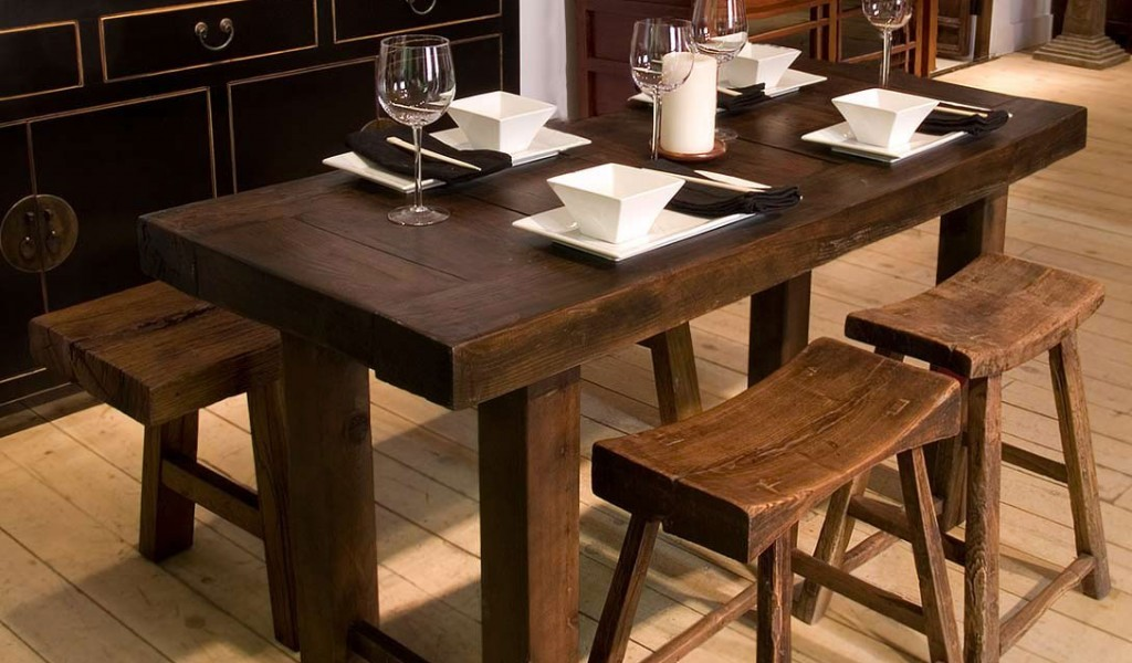 Image of: Narrow Dining Room Table With Leaves
