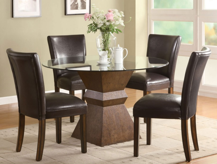 Image of: Nice Dark Wood Dining Table
