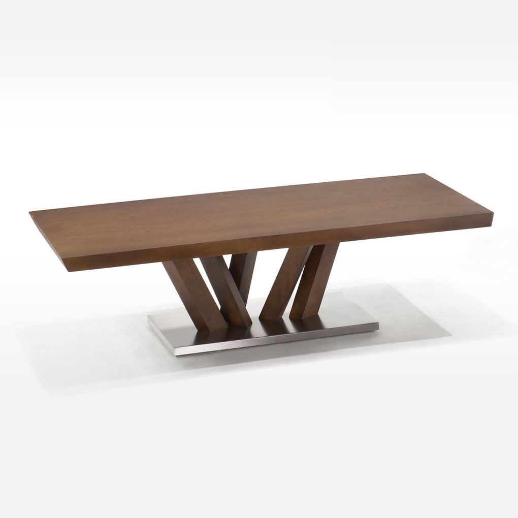 Picture of: Obliq Rectangular Wood Coffee Table Acorn