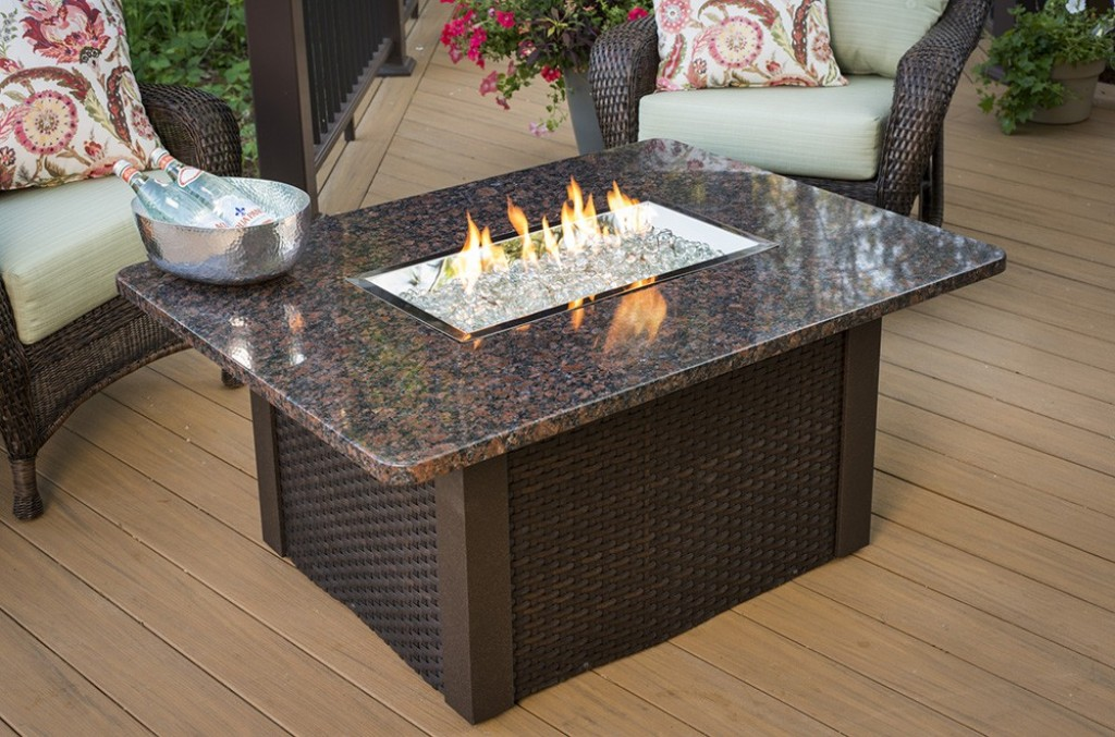 Image of: Outdoor Coffee Table Fire Pit Designs