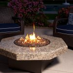 Outdoor Glass Fire Pit Table