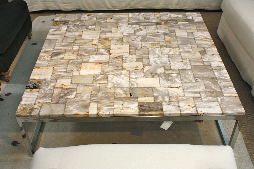 Picture of: petrified wood table base