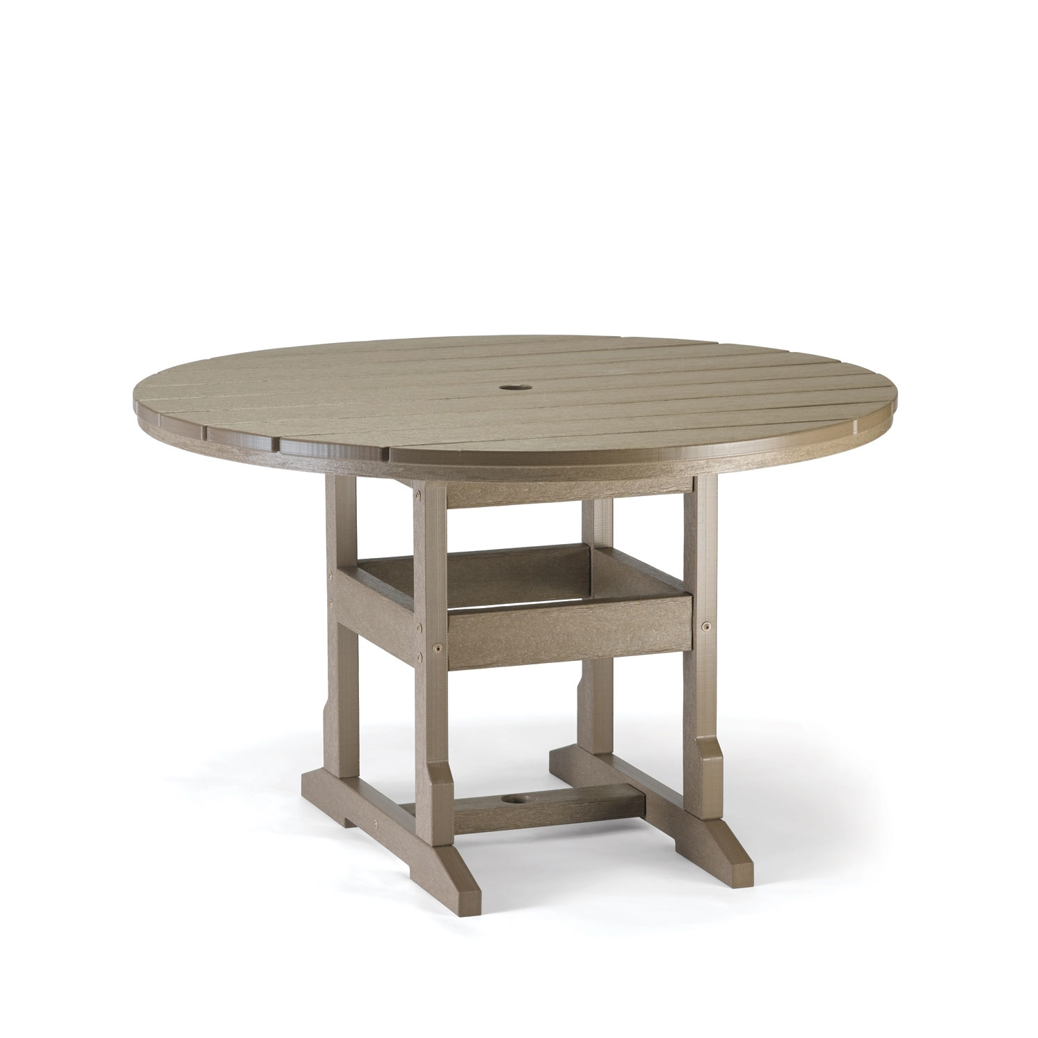 Picture of: Plastic round espresso dining table