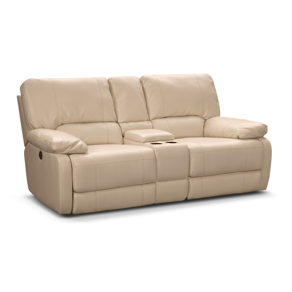 Picture of: Popular Leather Reclining Loveseat