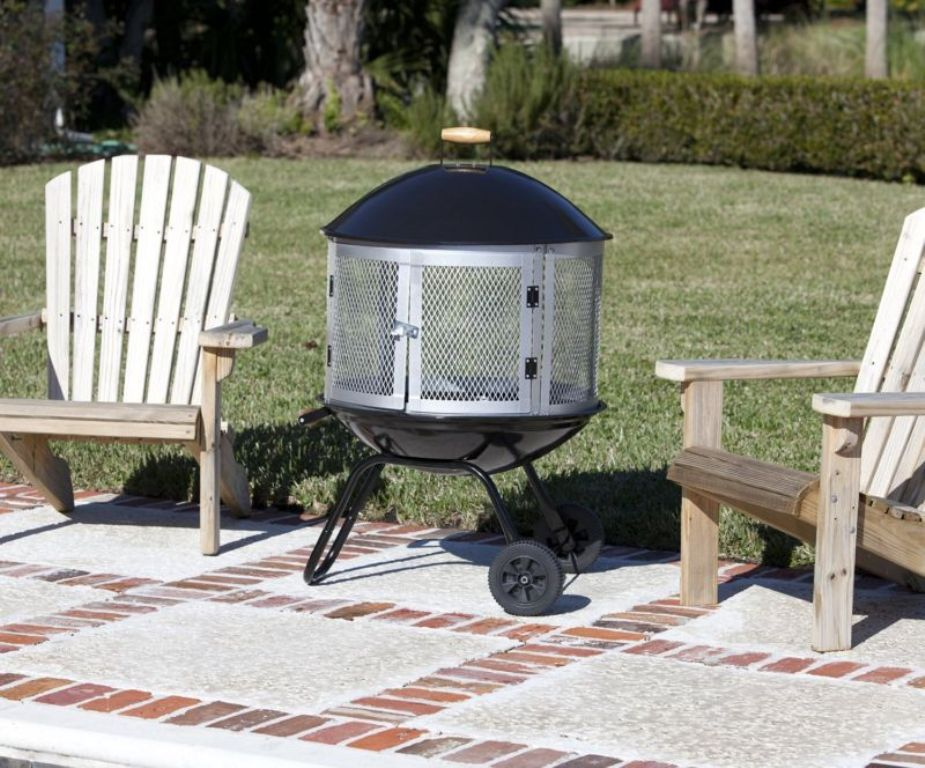 Portable Outdoor Fire Pit With Wheels