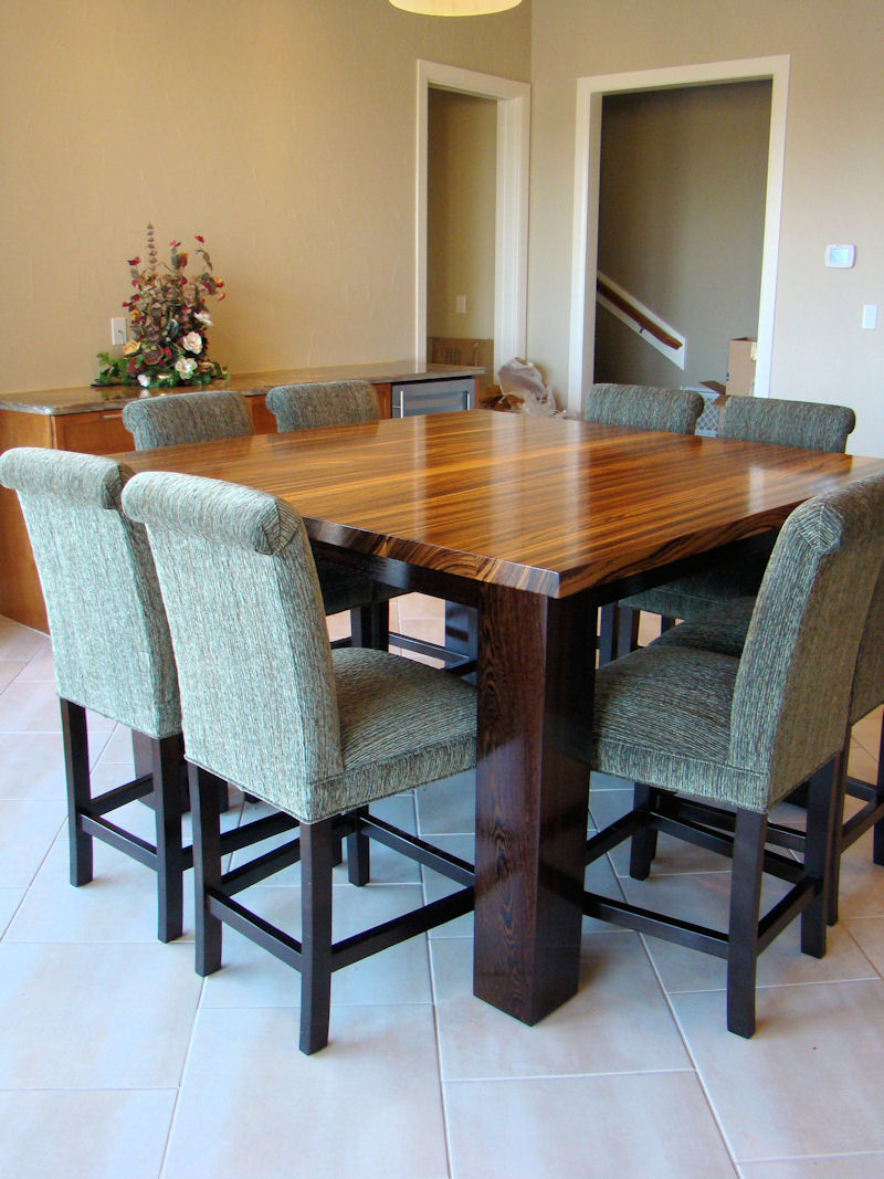 Image of: Rectangle Butcher Block Dining Room Table