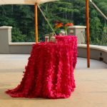 Red Cocktail Table Linens