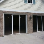 Retractable Single Garage Door Screen