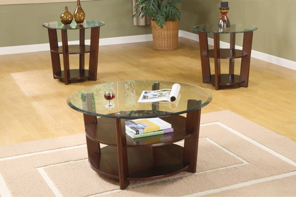 Image of: Round Coffee Table Sets Free Shipping