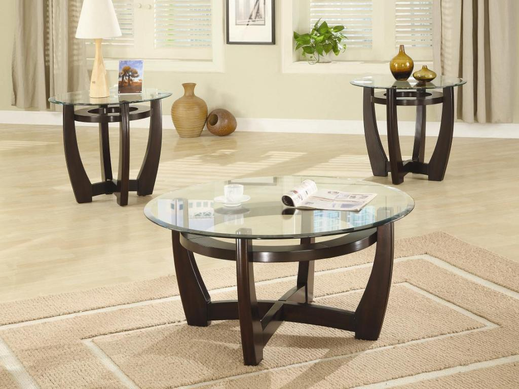 Image of: Round Coffee Table Sets Ideas