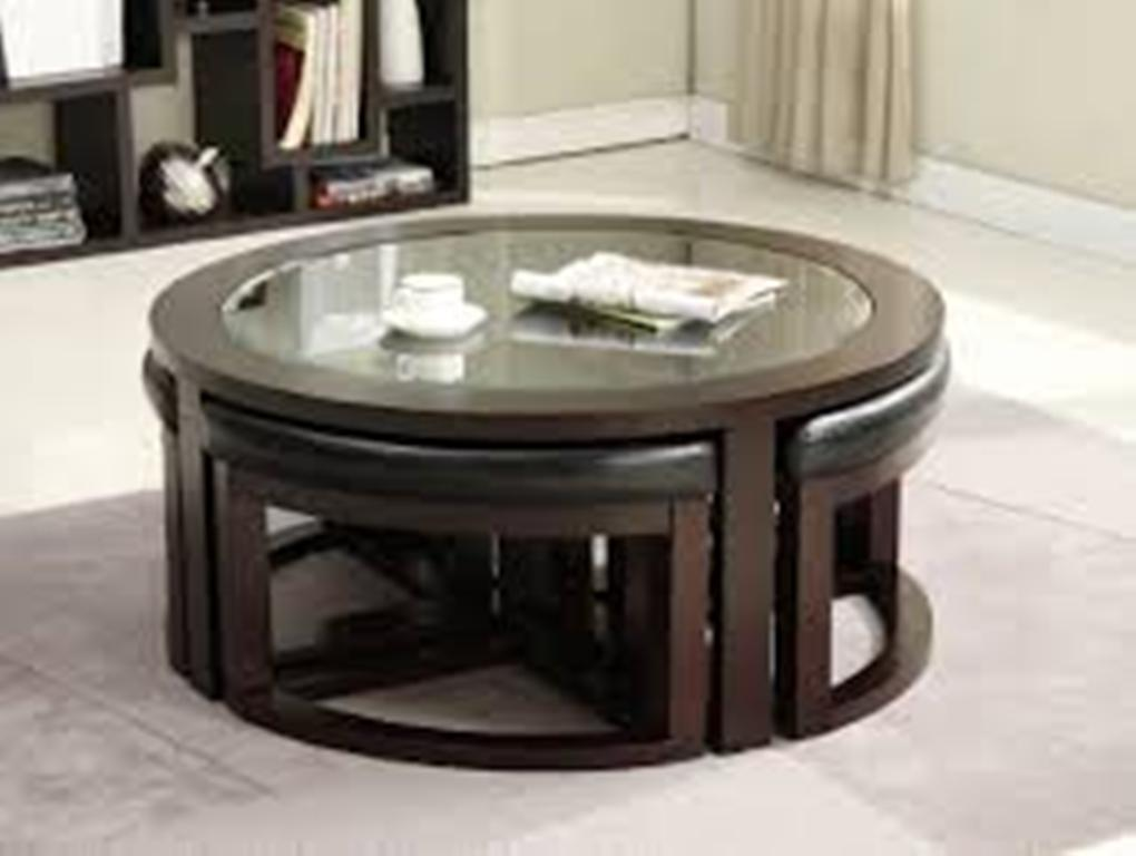 Image of: Round Coffee Table Sets and Console Tables
