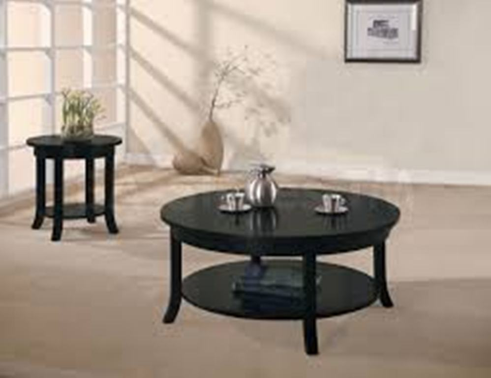 Image of: Round Coffee Table Sets and TV Stands That Match