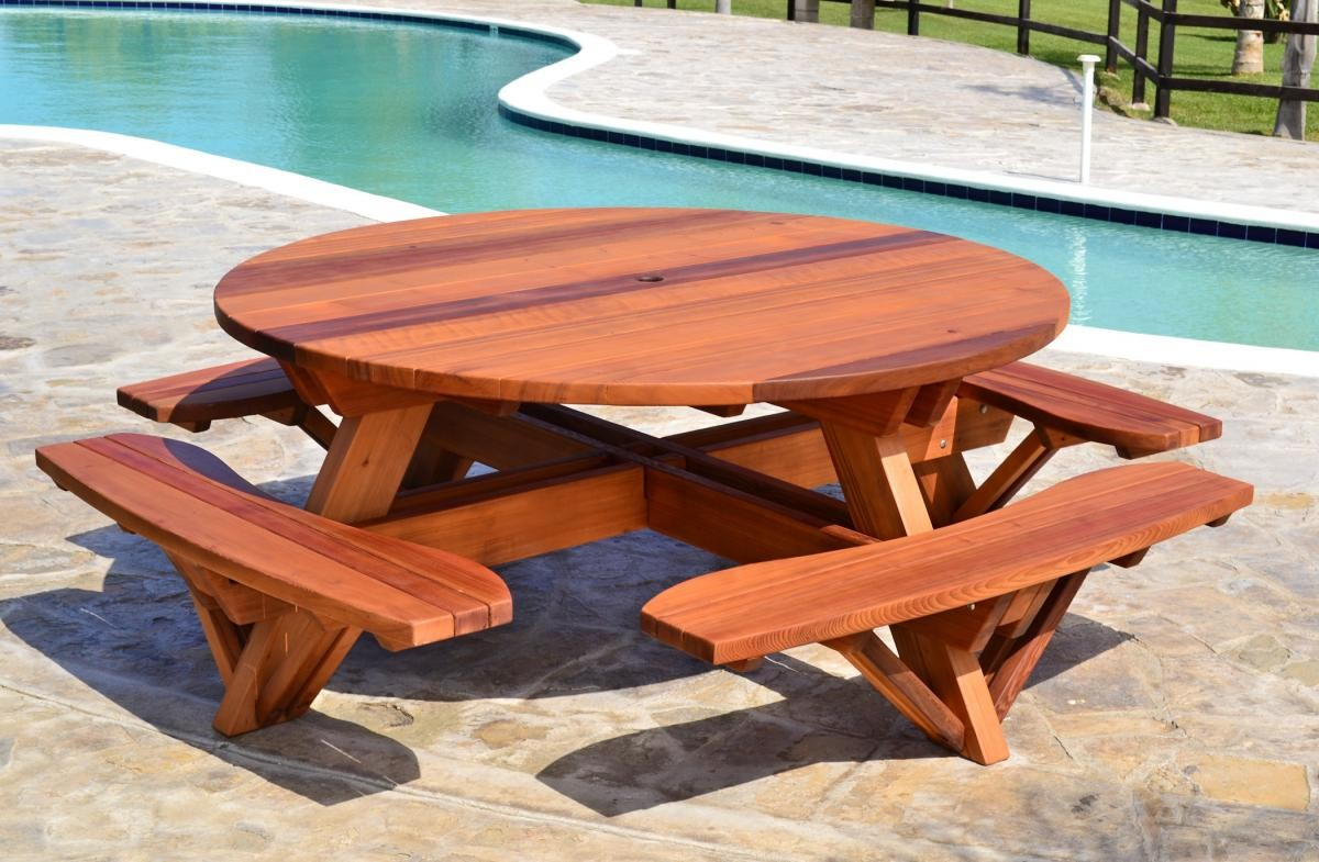 Picture of: Round Picnic Tables