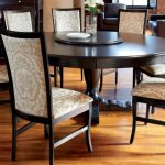 Round Espresso Dining Table Decoration