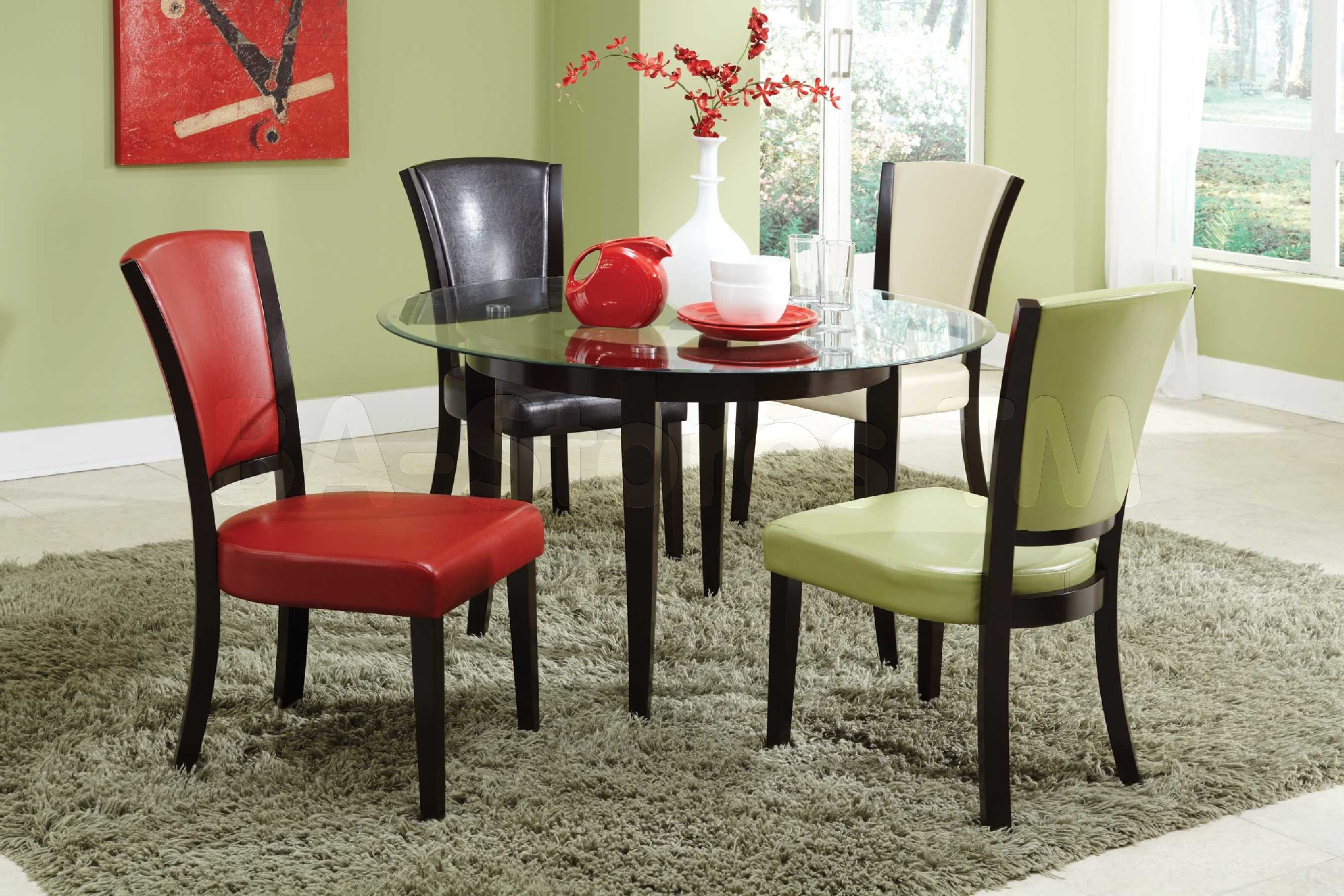 Picture of: Round espresso dining table design