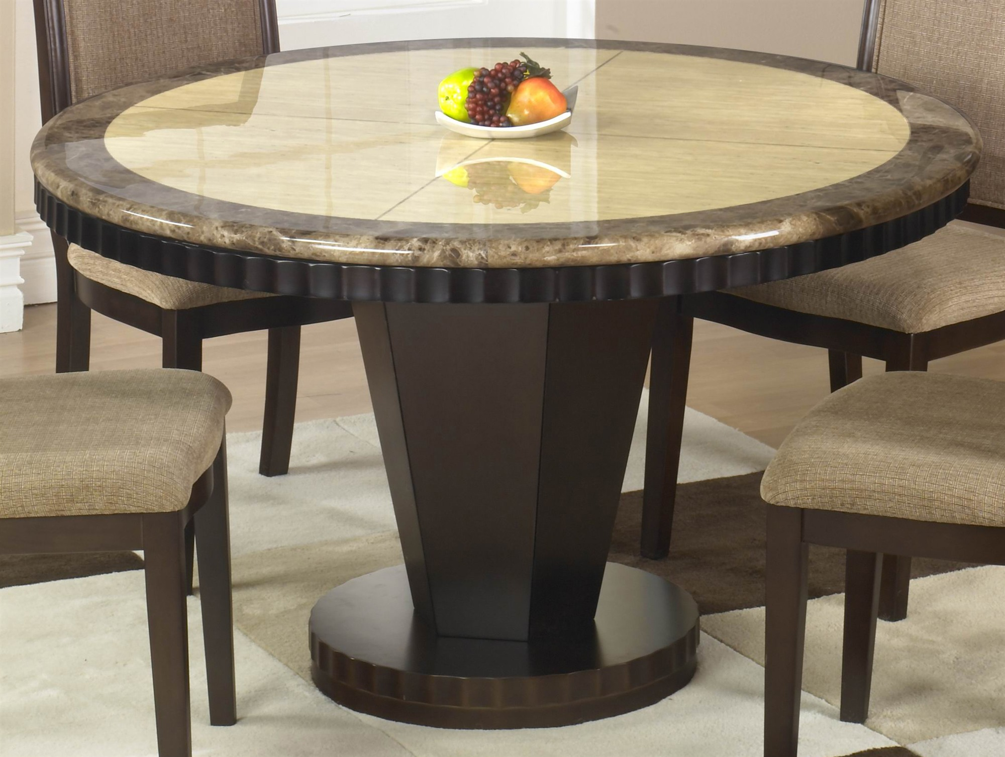 Picture of: Round espresso dining table ideas