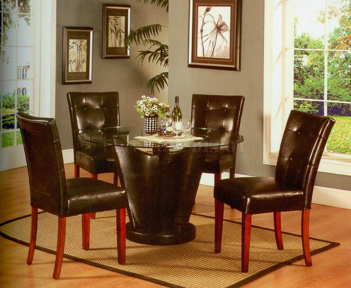 Picture of: Round espresso dining table sets