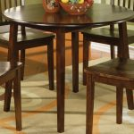 Round Espresso Dining Table With Leaf