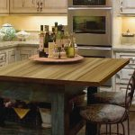 Rustic Butcher Block Dining Room Table